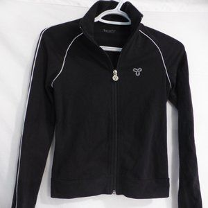 TNA, xs, black exercise zip front jacket w/ collar